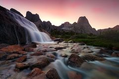 Wind River Mountains, Wyoming USA. royalty free stock image
