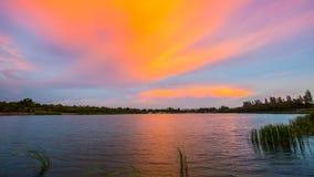 Wind River, puesta del sol Imagen de archivo