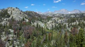 Wind River Range, Wyoming. Landscape view of Wind River Range, Wyoming royalty free stock photos