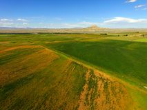 Wind River Reservation Wyoming Crowheart Butte Royalty Free Stock Photos