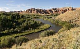 Wind River wiatry Przez Niewygładzonego Krajobrazowego Zachodniego Wyoming usa Zdjęcia Stock