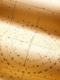 Wind rose. Closeup view of a wind or compass rose of some old nautical chart Royalty Free Stock Images