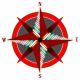 Wind rose 3 Royalty Free Stock Photography