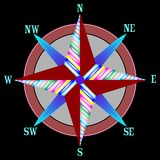 Wind rose 4 Royalty Free Stock Photography