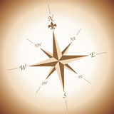 Wind rose. Over brownish and white gradient background Stock Photos
