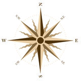 Wind rose. Vector illustration of a wind rose Royalty Free Stock Photos
