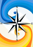 Wind Rose. Illustration raster, wind rose on a background pattern representing the wind Stock Image