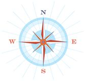 Wind Rose. Illustration of a compass wind rose Royalty Free Stock Photography