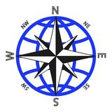 Wind rose against of the globe. Stock Photography