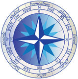 Wind Rose Blue Royalty Free Stock Photography