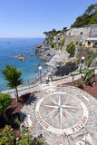 Wind Rose in Bogliasco Stock Photos