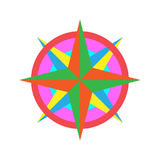 Wind Rose. Colorful Wind Rose Vector Icon Royalty Free Stock Images