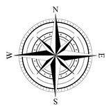 Wind rose compas Royalty Free Stock Images