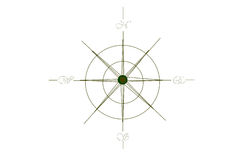 Wind Rose Compass. Old style compass. I am the artist Royalty Free Stock Photography