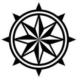 Wind Rose Compass. Royalty Free Stock Photo