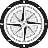 Wind rose compass. Modern wind rose compass for your map Royalty Free Stock Photo