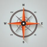 Wind rose compass. Wind rose compass in flat minimalistic style with long shadows Royalty Free Stock Photos