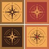 Wind rose compass flat symbols set. Wind rose compass flat vector symbols set Stock Image