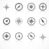 Wind rose compass flat vector symbols set.  Stock Images