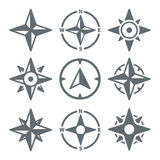 Wind Rose Compass Navigation Icons - Vector Illustration. Wind Rose Compass Navigation Icons - Vector Set Stock Photo