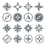 Wind Rose Compass Navigation Icons - Vektor-Illustration Lizenzfreie Stockfotografie