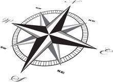 Wind rose compass retro design vector Stock Photo