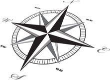 Wind rose compass retro design vector.  Stock Photo