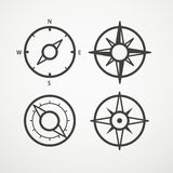 Wind rose and compass retro design Royalty Free Stock Photos