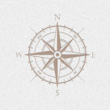 Wind rose compass  symbol Royalty Free Stock Photo