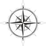 Wind rose compass vector Royalty Free Stock Photography