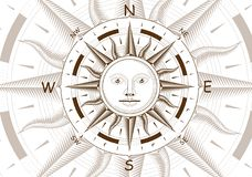 Wind rose compass vector Stock Images