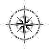 Wind rose compass Royalty Free Stock Photos