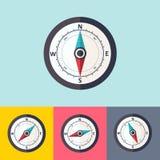 Wind rose compass vector flat symbols set. Set of vector flat wind rose compass Royalty Free Stock Images