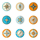 Wind rose compass. Vector illustration Stock Photos