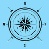 Wind rose compass.Vector illustration .Geography Stock Images