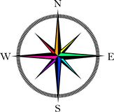 Wind rose compass vector symbol. Wind rose compass retro vector illustration Royalty Free Stock Image