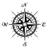 Wind rose. The direction of the compass Stock Photos