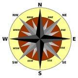 Wind rose - elegant colored compass illustration Royalty Free Stock Image