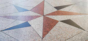 Wind rose on a granite floor. Shot in Cagliari, Italy Royalty Free Stock Image