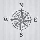 Wind rose gray Stock Image