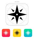 Wind rose icon. Navigation sign. Royalty Free Stock Photography