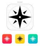 Wind rose icon. Navigation sign. Vector illustration vector illustration