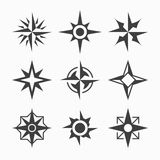 Wind rose icons Royalty Free Stock Photos
