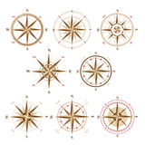 Wind rose icons in vintage style Stock Photo
