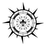 Wind rose on isolated white background navigation symbol as vector. Compass rose compassrose wind rose polar star magnetic marine navigation isolated background Royalty Free Stock Images