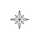 Wind rose line icon, navigation and compass Royalty Free Stock Photography
