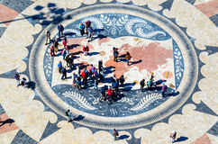 Wind rose in lisbon or rosa dos ventos Royalty Free Stock Image