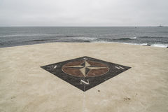 The wind rose. Near a lighthouse in Rhode Island, USA Stock Images