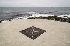 The wind rose. Near a lighthouse in Rhode Island, USA Royalty Free Stock Photos