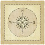 Wind rose on old background Royalty Free Stock Photos
